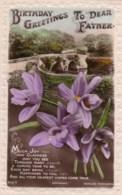 AL71 Greetings - Family Birthday, Father, Bridge, Flowers - Birthday