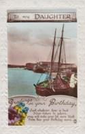 AL71 Greetings - Family Birthday, Daughter, Boat, River, Flowers - Birthday