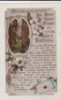AL71 Greetings - 21st Birthday, Flowers, Woodland - Birthday