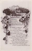 AL71 Greetings - Family Birthday, Mother, Flowers, River Scene - Birthday