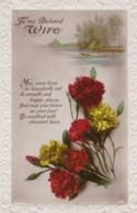 AL71 Greetings - Family Birthday, Wife, Carnations - Birthday