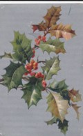 AL71 Greetings - Holly With Berries - Holidays & Celebrations
