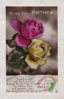 AL71 Greetings - Family Birthday, Father, Roses, Horseshoe - Birthday