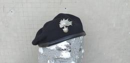 Basco Nero Vintage Carabinieri Tg. 58 Completo Marcato Mai Usato - Cascos