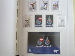 Faroe Islands 2009 ,  Facit 667 - 668 + 677 - 679 + Block 40  MNH  (Complete Sets) (Box 1 - 57) - Féroé (Iles)