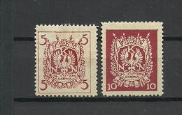 POLAND. 1914. WW1 Polish Legion Labels Revenue Military Stamps. Signed ! - Unused Stamps