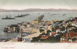 AO12 Gibraltar, Rosia Bay, War Ships - Undivided Back, Local Publisher - Gibraltar