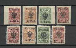 POLAND. 1917-1918. WW1 Polish Legion. Mi. # 12-15 A+B. CV 188 EUR ! SIGNED ! MNH/LH - Unused Stamps