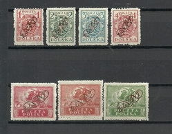 POLAND. 1919. Offices Abroad. LEVANT. Mi. # I-VII. RARE ! CV 40 EURO ! - Levant (Turquie)