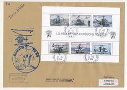 """TAAF - Enveloppe BF """"Les Hélicoptères En Régions Polaires"""" - Obl Dumont D'Urville T. Adélie 21/6/2014 + Cachets Divers - Terre Australi E Antartiche Francesi (TAAF)"""
