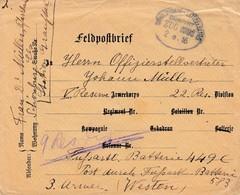 Feldpostbrief Obl DRULINGEN - LÜTZELBURG / ZUG 2392 / 2.8.16 Adressée à L'Armée - Marcofilia (sobres)
