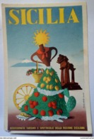 SICILIA Assessorato Turismo E Spettacolo Della Regione Siciliana VIAGGIATA 1952 Studio Artass - Italia