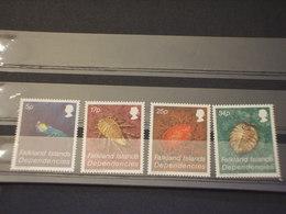 FALKLAND DIP. - 1983 CROSTACEI 4  VALORI - NUOVI(++) - Falkland