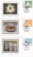 Série De 3 FDC Sur Soie / Op Zijde - Musée De Mariemont - Timbres N°2566/8 - 1994 - FDC