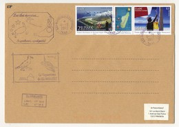 TAAF - Enveloppe Triptyque 2eme RPIM - DLEM - Iles Glorieuses, Iles éparses 8/3/2012 + Vaguemestre Glorieuses - Franse Zuidelijke En Antarctische Gebieden (TAAF)
