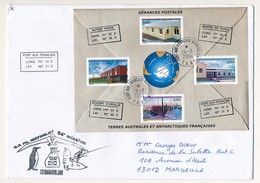 TAAF - Enveloppe BF Gérances Postales - Port Aux Français Kerguelen 28/3/2004 + 54eme Mission - Terre Australi E Antartiche Francesi (TAAF)