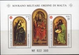 """PIA - SMOM - 1989 : San Giovanni Battista -  Dall' """"Agnello Mistico"""" Di Hubert E Jan Van Eyck - (UN Foglietto 27) - Malte (Ordre De)"""