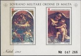 PIA - SMOM - 1983 : Natale - Dipinti Di Mattia Preti - (UN Foglietto 17) - Malte (Ordre De)