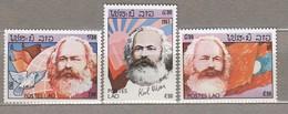 LAOS 1983 Karl Marx Flags Globe Birds MNH (**) Mi 688-690 #24721 - Laos