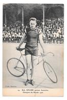 Cyclisme 29 Bob Spears Sprinter Australien Champion Du Monde 1920 Non Circulée - Cyclisme