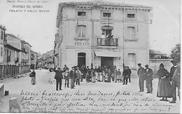 Tarjeta Postal 1907 Burgo De Osma - Fielato Y Calle Mayor - People - Soria
