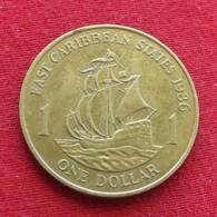 East Caribbean States 1 Dollar 1986 KM# 15 Caribbean Caraibas Caraibes Orientales - Oost-Caribische Staten