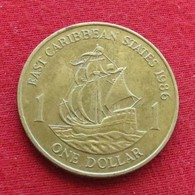 East Caribbean States 1 Dollar 1986 KM# 15 Caribbean Caraibas Caraibes Orientales - East Caribbean States