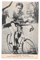 Cyclisme 42 H Pélissier Routier Français Vainqueur Bordeaux Paris 1919 Tour De France 1923 Non Circulée - Cyclisme