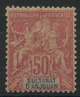 Anjouan (1892) N 11 * (charniere) - Ongebruikt