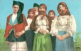 Sardegna, Costumi Sardi Della Baronia, Riproduzione C90, Reproduction, Illustrazione - Costumi