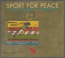 UN-New York. Scott # 964 MNH S/sheet. Sport For Peace. 2008 - New York – UN Headquarters