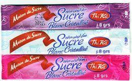 """Sucre - 3 Sticks De Sucre Vides -  """"La Maison Du Sucre Tika"""" Algérie. - Zucchero (bustine)"""