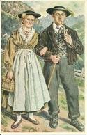 Costumi Tirolesi ??, Riproduzione C93, Reproduction, Illustrazione, P. Hernsteiner Illustratore - Costumi