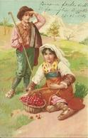 Costumi Abruzzesi, Riproduzione C94, Reproduction, Illustrazione, A.G.M. Illustratore - Costumi