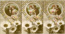 COUPLE D' AMOUREUX - MARGUERITES - LOT N° 810 De 3 CPA - - Tarjetas De Fantasía
