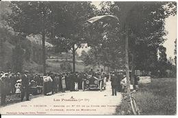 LUCHON. ARRIVEE DU No 80 DE LA COUPE DES PYRENEES AU CONTROLE ROUTE DE MOUSTAJON - Postcards