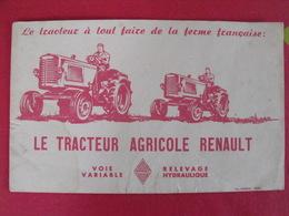 Buvard Tracteur Renault. Le Tracteur à Tout Faire De La Ferme Française. Vers 1950 - Agriculture