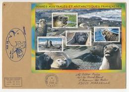 TAAF - Enveloppe BF Elephant...  - Port Aux Français - Kerguelen 1/1//2008 + Cachet Ker 58 - Terres Australes Et Antarctiques Françaises (TAAF)