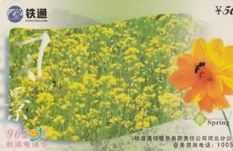 TARJETA TELEFONICA DE CHINA. FLORES - FLOWERS. SPRING. HBTT-2003-03(4-2). (750) - Flores