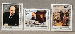 LAOS 1985 Lenin MNH (**) Mi 835-837 #24736 - Laos