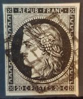 FRANCE - Canceled - YT 3, Mi 3 - 20c - 1849-1850 Ceres