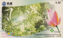 TARJETA TELEFONICA DE CHINA. FLORES - FLOWERS. SUMMER. HBTT-2003-03(4-3). (751) - Flores