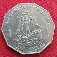 East Caribbean States 1 Dollar 1991 KM# 20  Caribbean Caraibas Caraibes Orientales - Ostkaribischer Staaten