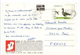 IRLANDE EIRE CARTE POUR LA FRANCE 1979 - 1949-... Republic Of Ireland