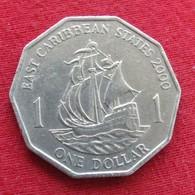 East Caribbean States 1 Dollar 2000 KM# 20  Caribbean Caraibas Caraibes Orientales - East Caribbean States