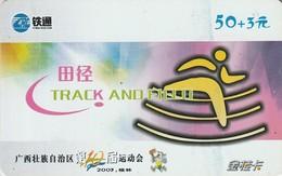 TARJETA TELEFONICA DE CHINA. TRACK AND FIELD. GXCRC-JG-2003-8-(12-10). (749). - Deportes