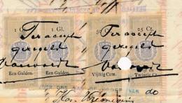 Nederlands Indië - 1879 - 4 Belastingzegels Op Wisselbrief NHM  Batavia - Nederlands-Indië