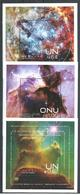 UN-Ge,NY,VI. Scott # 569,1070,531 MNH. 3 Souvenir Sheets. Space Nebulae 2013 - New York/Geneva/Vienna Joint Issues
