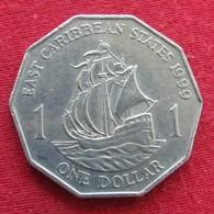 East Caribbean States 1 Dollar 1999 KM# 20  Caribbean Caraibas Caraibes Orientales - Oost-Caribische Staten