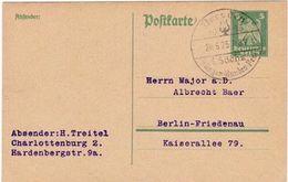 Deutsches Reich 1925: Postkarte Mit O Dresden 20.6.25 1.Sächs-Sänger-Bundes-Fest - Musik